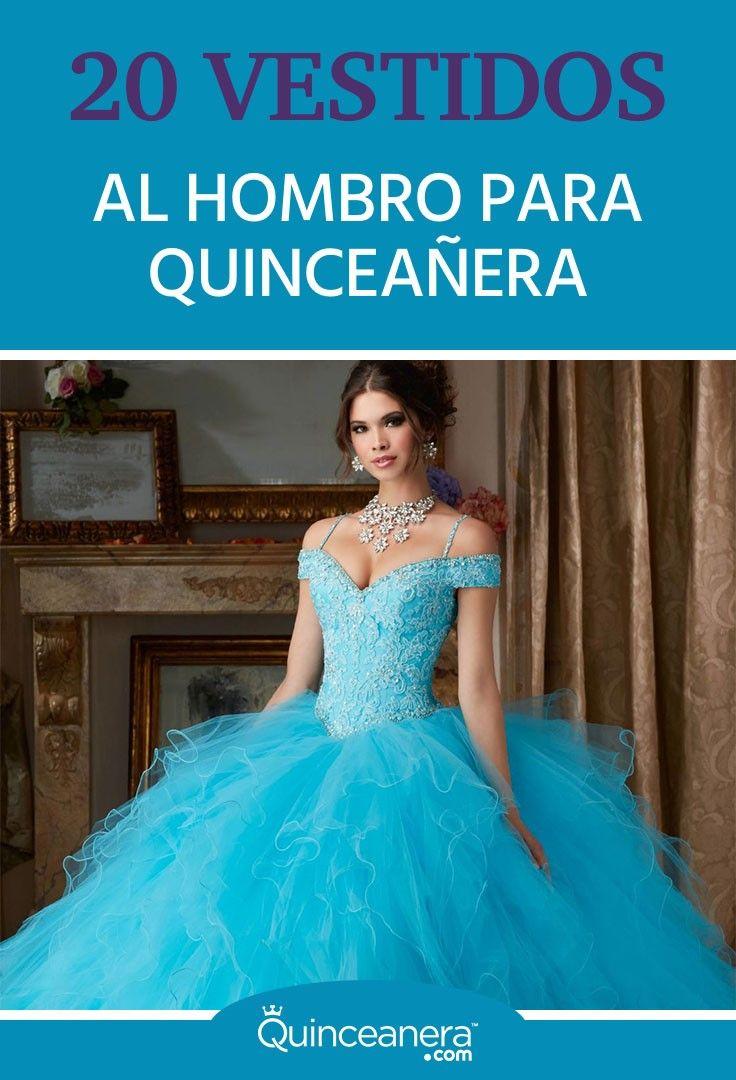 20 vestidos al hombro, para Quinceañera