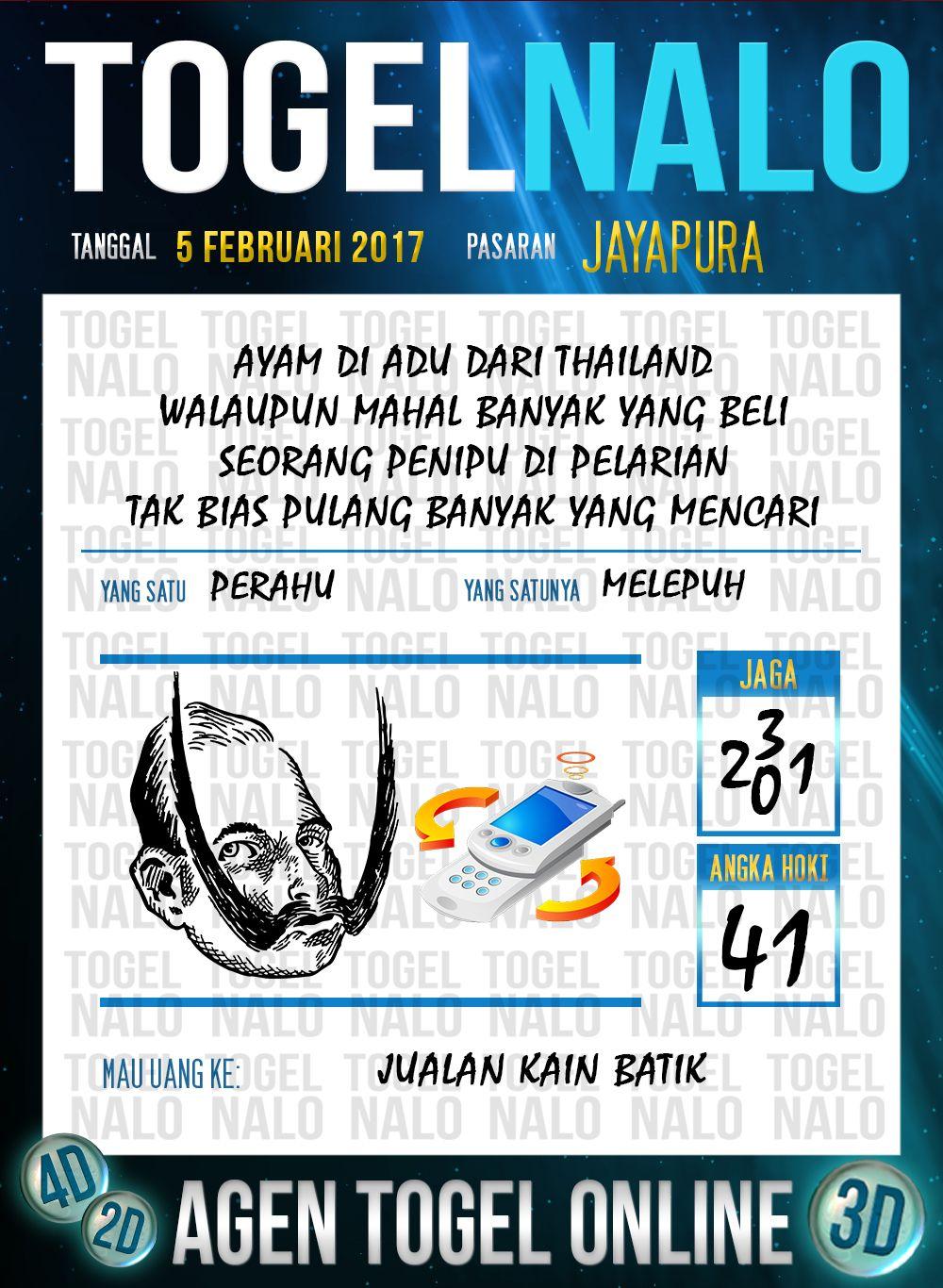 Acak Kode 2d Togel Wap Online Live Draw 4d Togelnalo Jayapura 5 Februari 2017 Januari 26 Januari 27 Januari