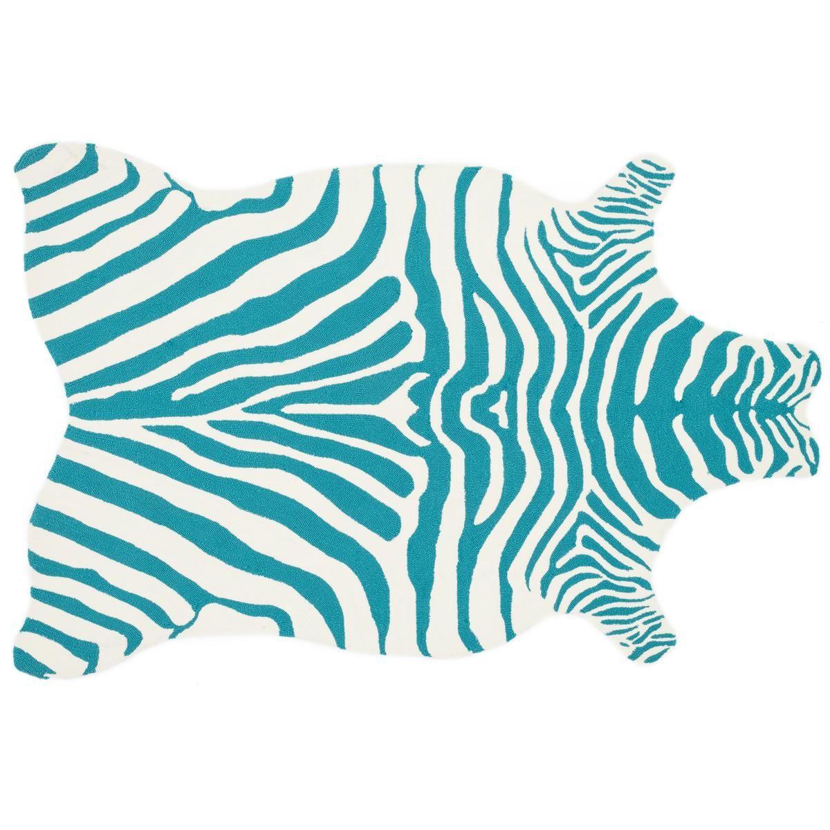 Girly Rugs For Bedroom: Hooked Zebra Indoor/Outdoor Rug