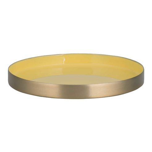 Decorative Tray Delectable Bahne Yellow And Gold Decorative Tray This Beautiful Yet Simple Inspiration