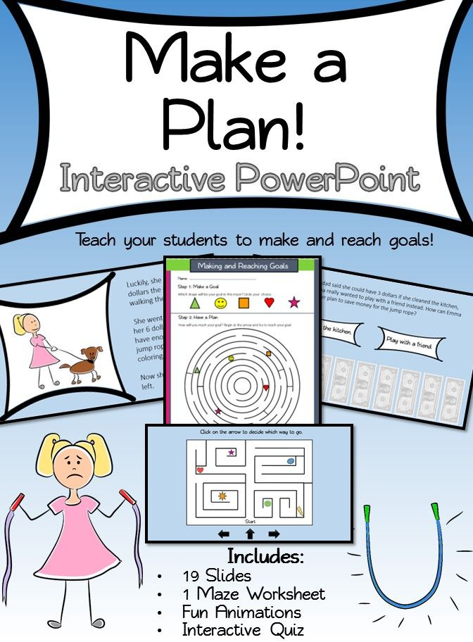 Setting and Reaching Goals Interactive PowerPoint | Happy kids ...