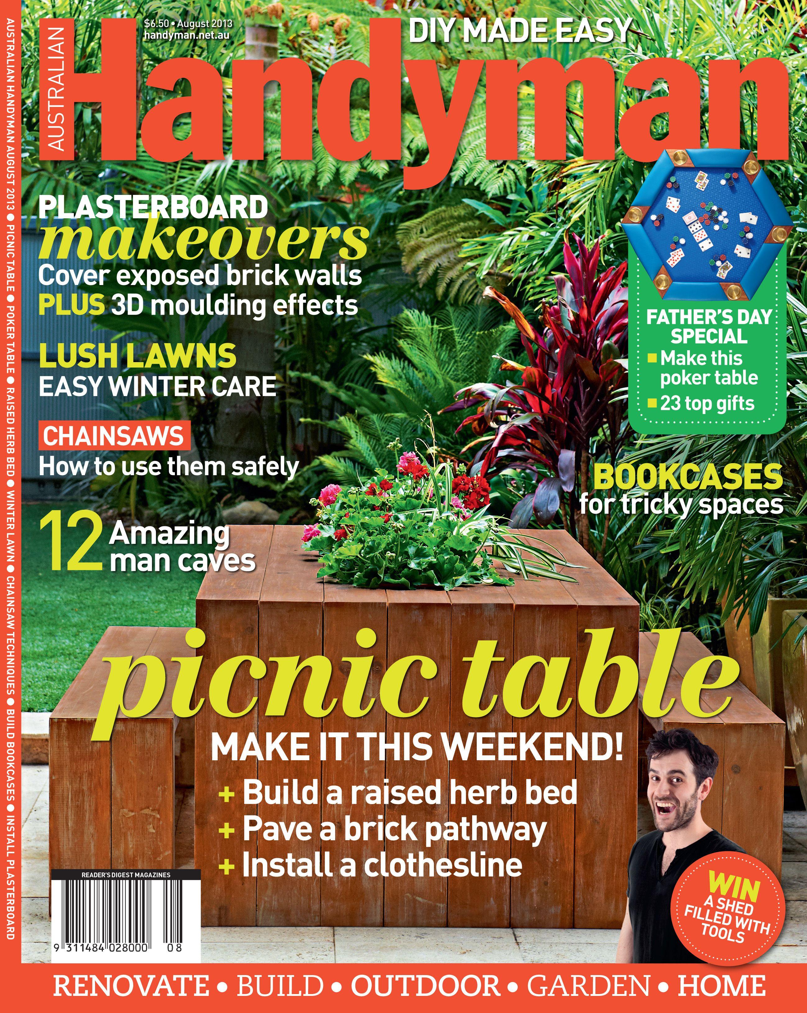 Australian handyman magazine august 2013 with images