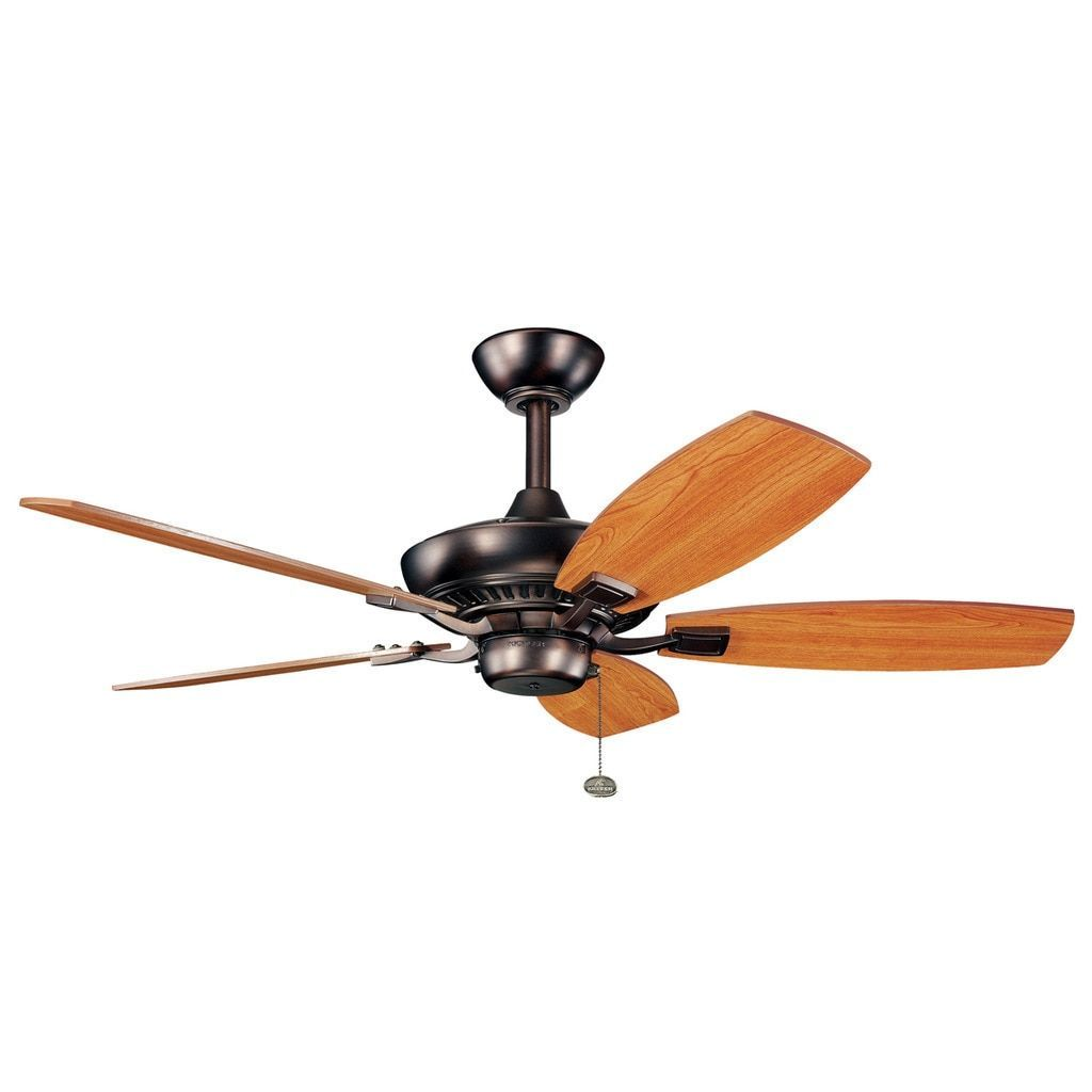 Kichler Lighting Canfield Collection 44 Inch Oil Brushed Bronze Ceiling Fan Ceiling Fan Bronze Ceiling Fan Oil Brush
