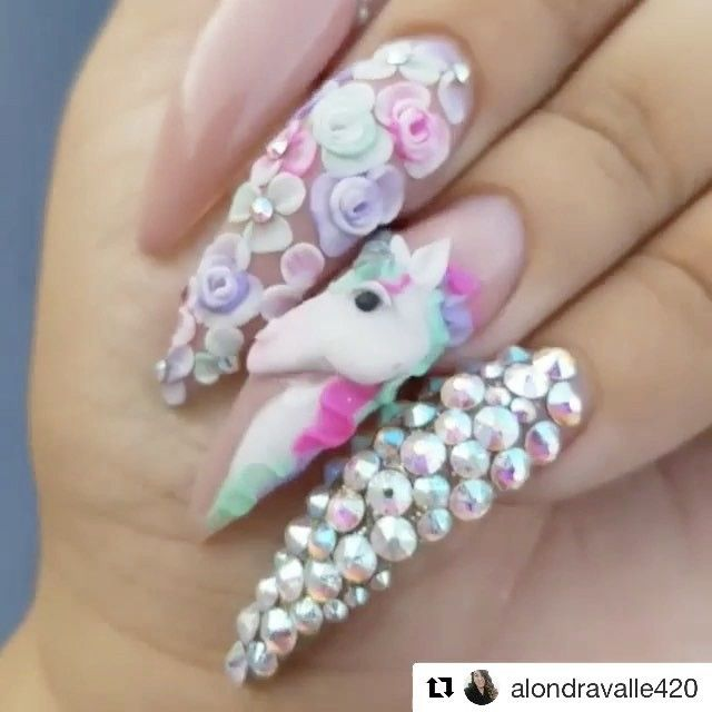 10 Unicorn Nails That Are Truly Magical | Unicorn nails, Unicorns ...