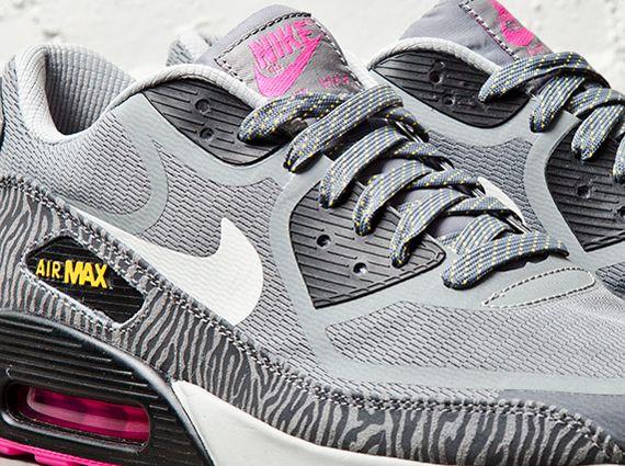 Wmns Nike Air Max 90 Tape Blue Zebra Navy White Pink