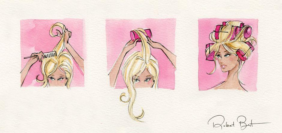robert best, fashion illustration, barbie