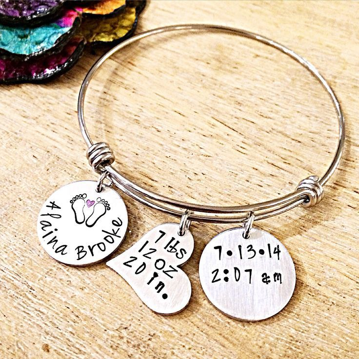 Baby Birth Stats Bracelet Jewelry For New Mom New Mother Gifts