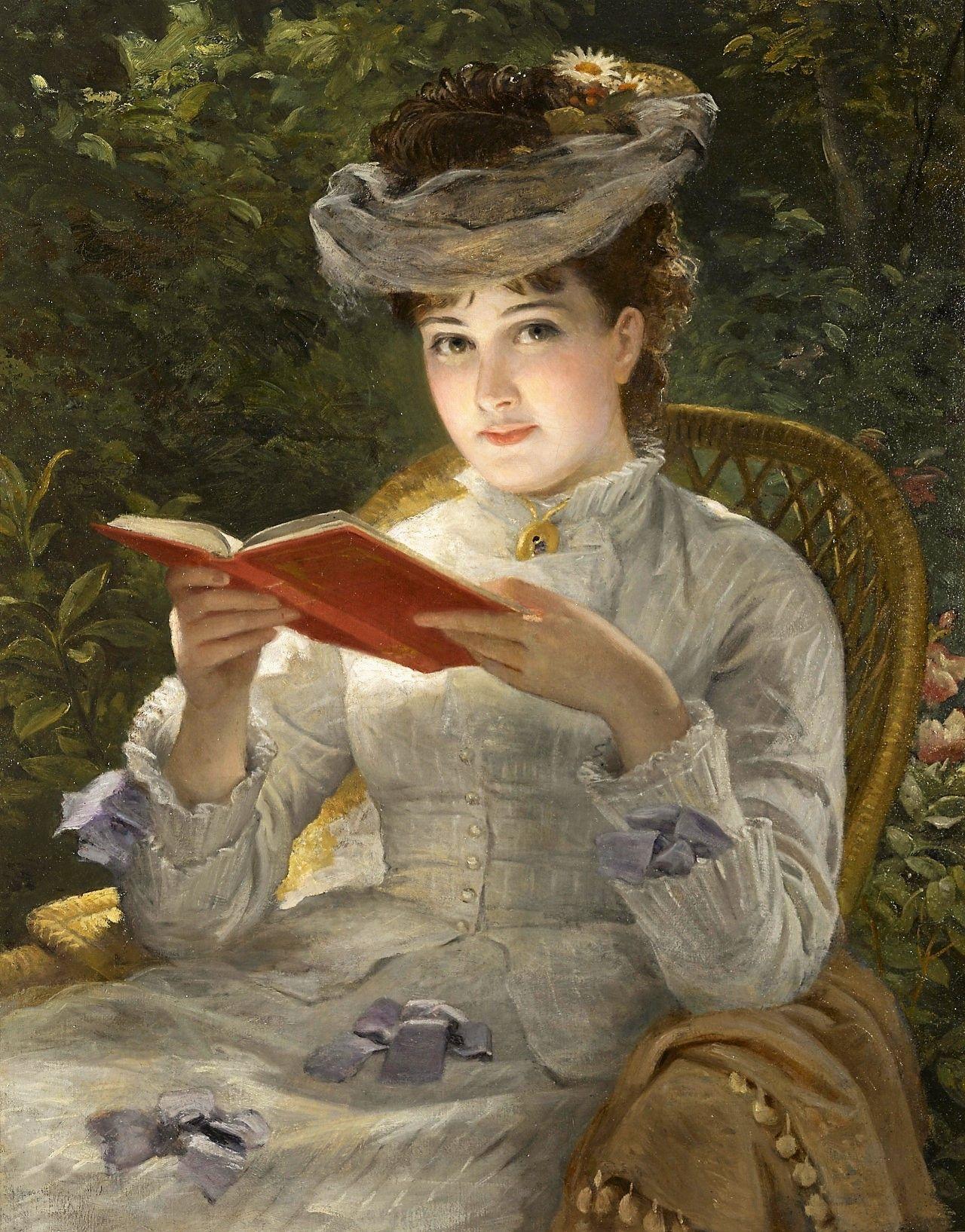 Women Reading 1800s 19th Century English School