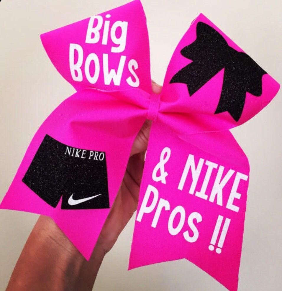 9d634b31d3d4d Big Bows And Nike Pros Hot Pink Spandex Cheer Bow | Cheerleader ...