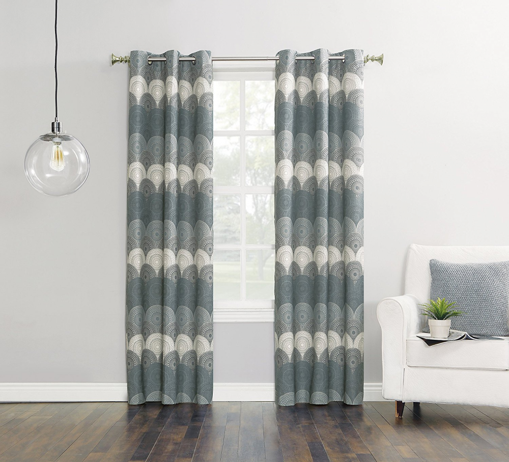 Finnick Medallion Wave Thermal Curtain 40wx 63l By Sun Zero Buy 3
