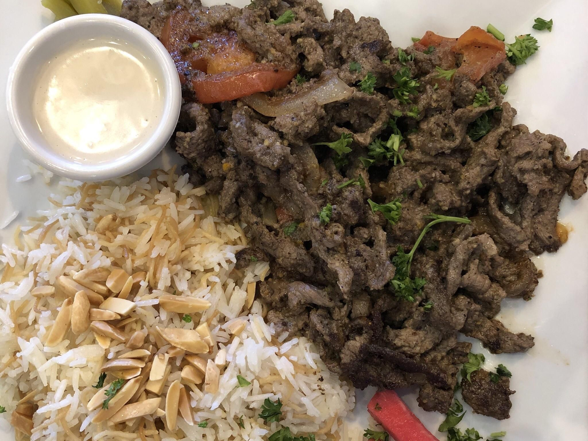 [I ate] Lebanese beef shawarma platter Beef, Food