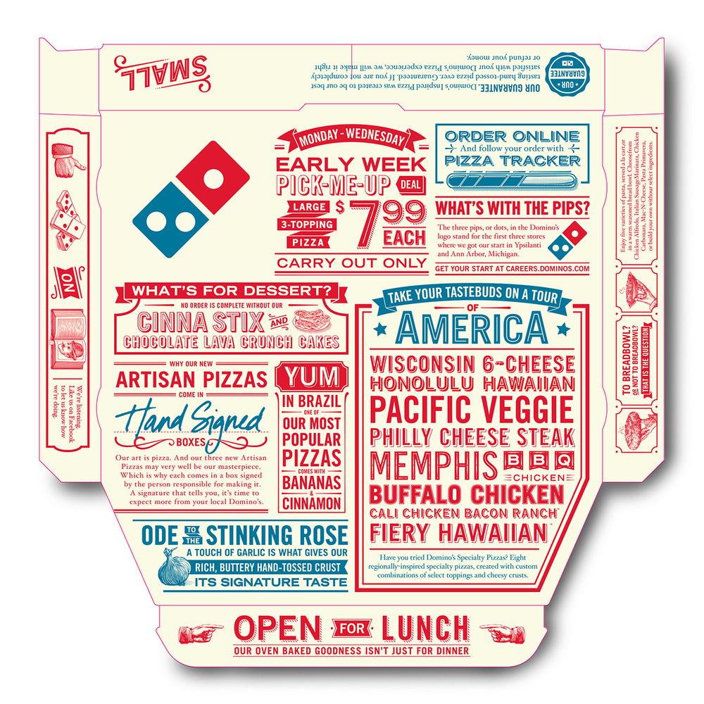 Domino S Pizza Box Illustrations Dieline