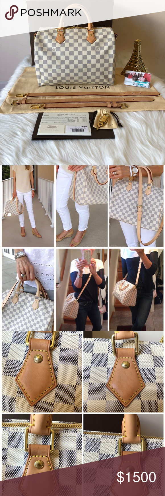 fbb3294498b4 Preloved Authentic LV Speedy30 Ban Damier Azur Bag Selling Preloved an  authentic Beautiful Louis Vuitton Speedy