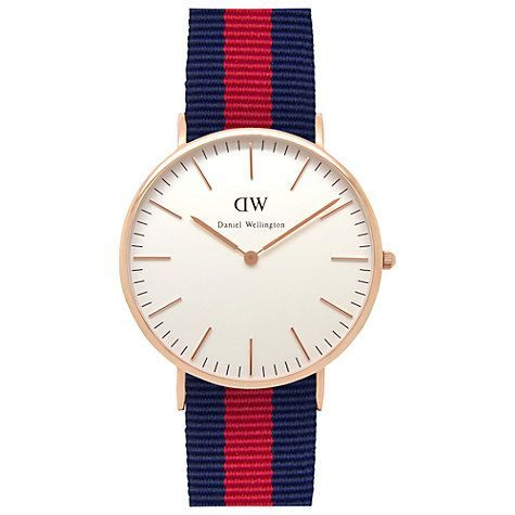 Buy Daniel Wellington Mens Classic Rose Gold PVD NATO Strap Watch Online at joh
