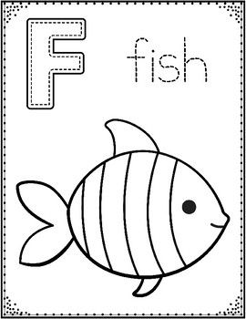 Alphabet Coloring Sheets: PreKindergarten and Kindergarte