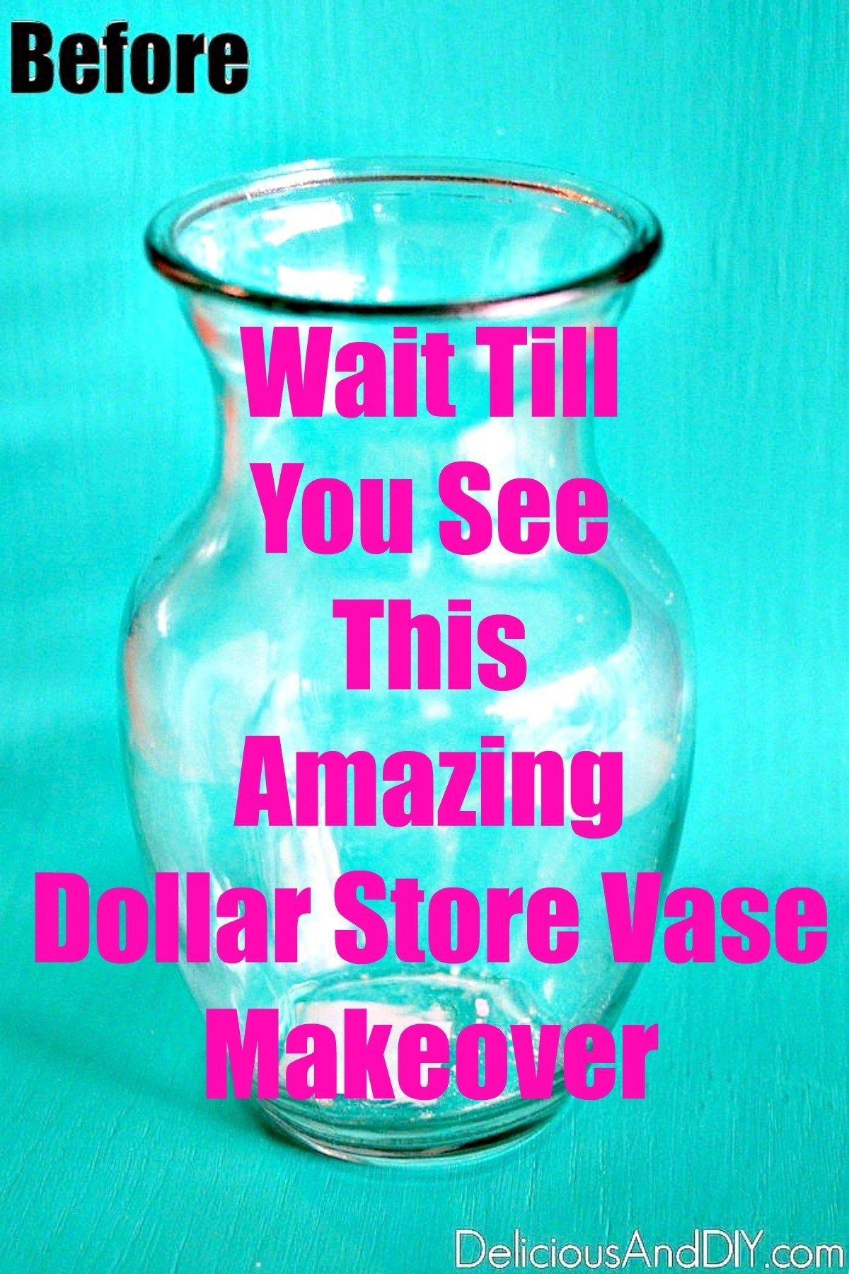 See how you can transform a boring Dollar Store Vase into a Stunning Anthropologie Inspired Vase Dollar Store Vase Centerpiece Ideas DIY Dollar Store Vase Ideas