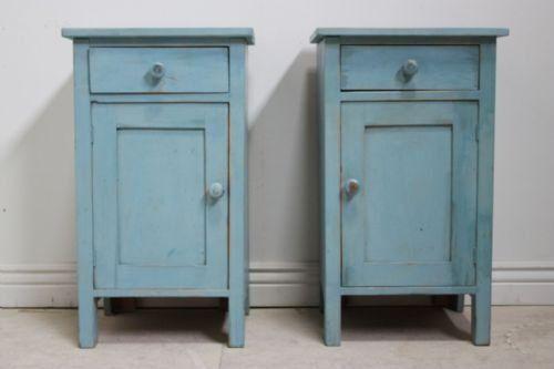 Pair Of Antique Painted Pine Bedside Cabinets - Картинки по запросу Antique Pine Nightstand мебель Pinterest