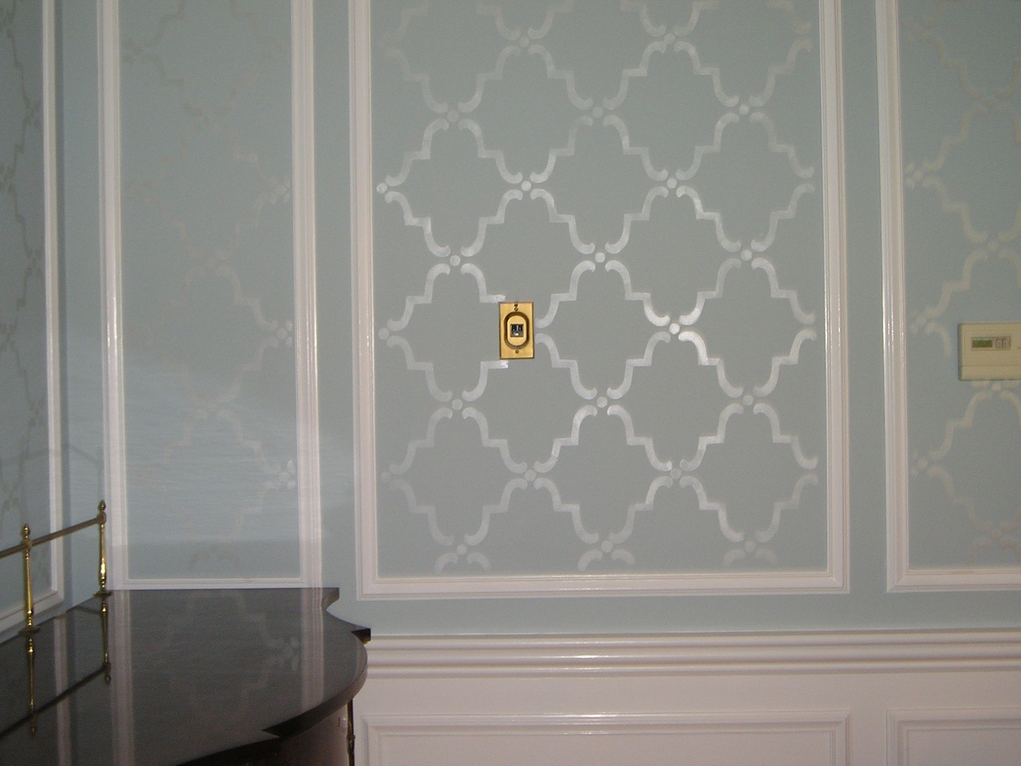 Stenciled Room Blue Print