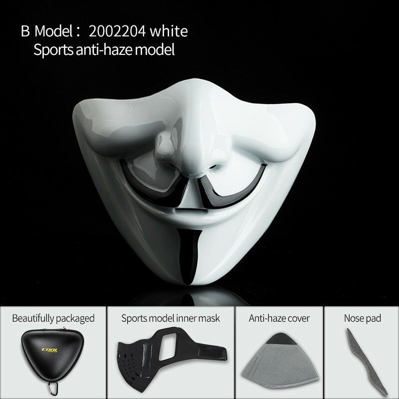 V Word Vendetta Cosplay Half Face Mask Windproof Bicycle Sport Warm Game Costume Half Face Mask Bicycle Sport V Words