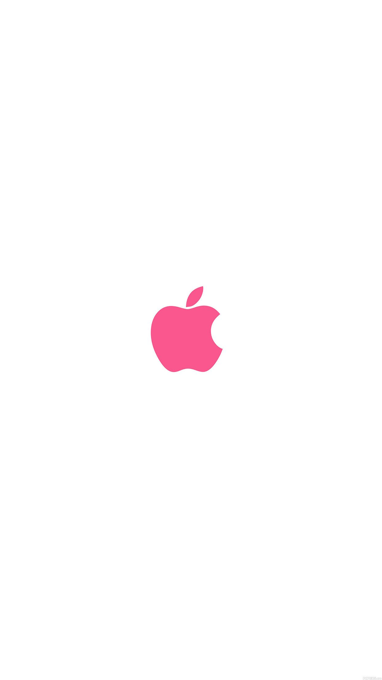 Apple Logo Color Red Minimal Apple Logo Wallpaper Iphone Apple