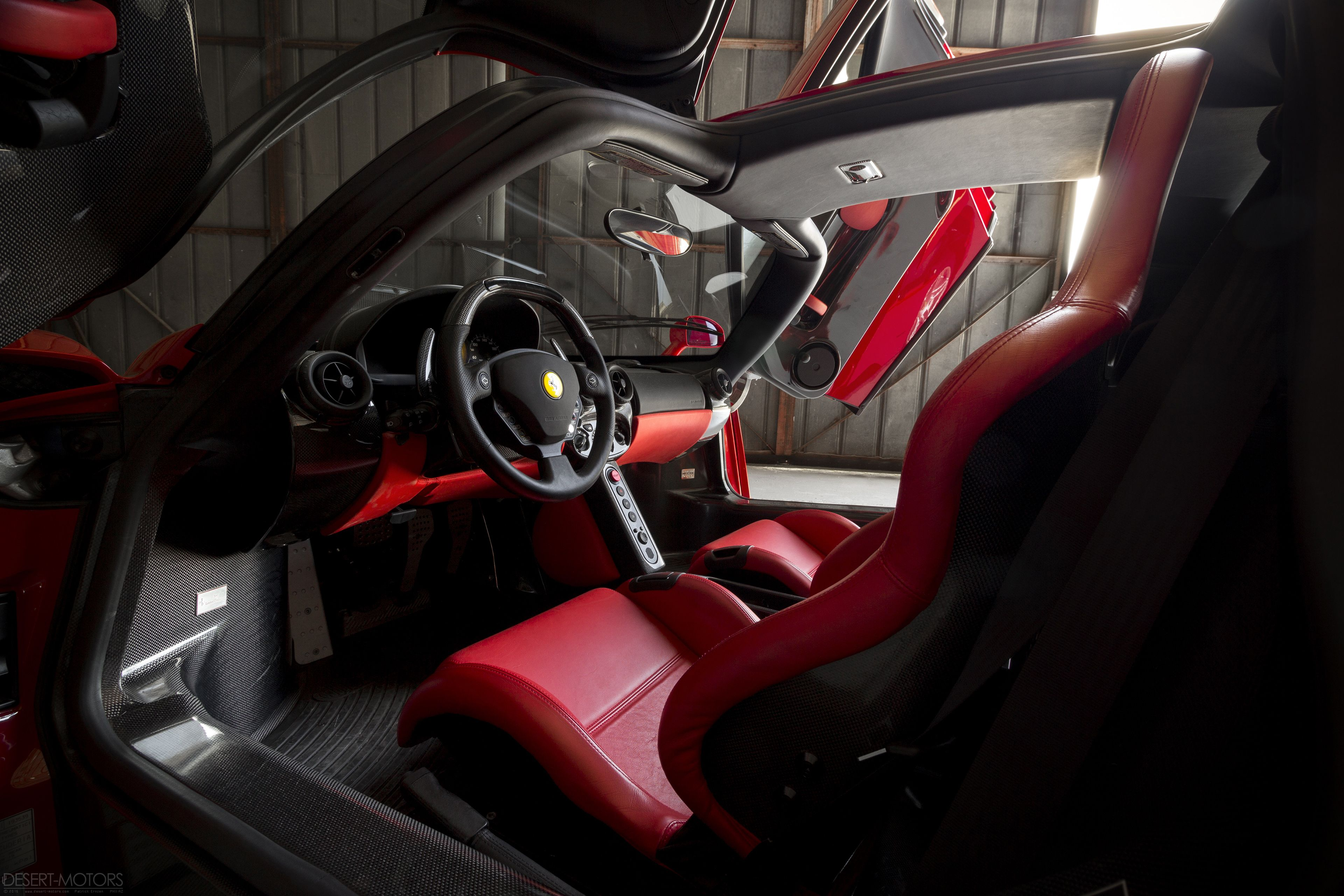 Ferrari Enzo: One of the best interior of all time IMO. [OS] [OC] [3840x2560] - Click the PIN to see more!