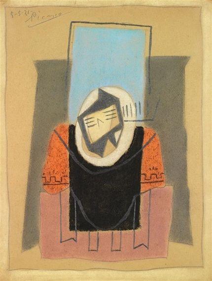 Pablo Picasso - Guitare sur une table, 1921,...
