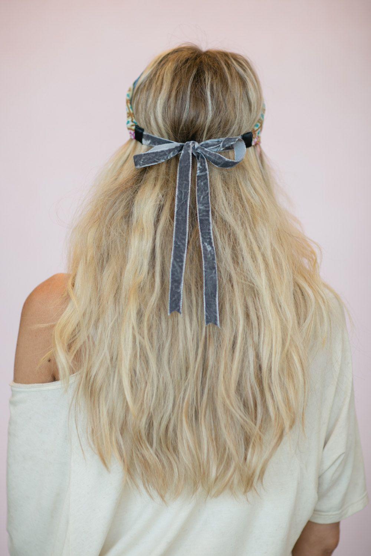 Boho headband cute hair bands patchwork head wrap by threebirdnest