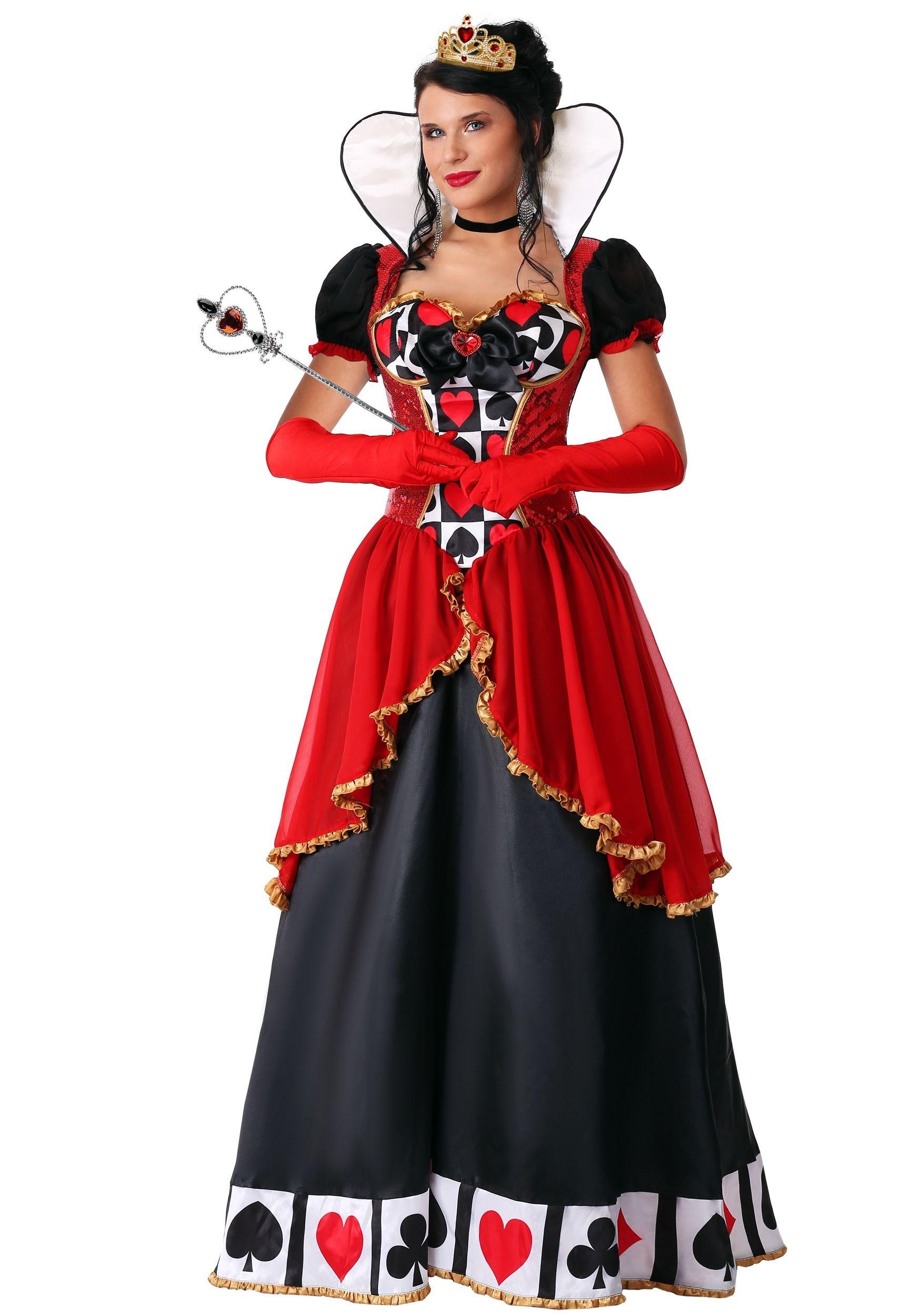 Women/'s Supreme Queen of Hearts Costume