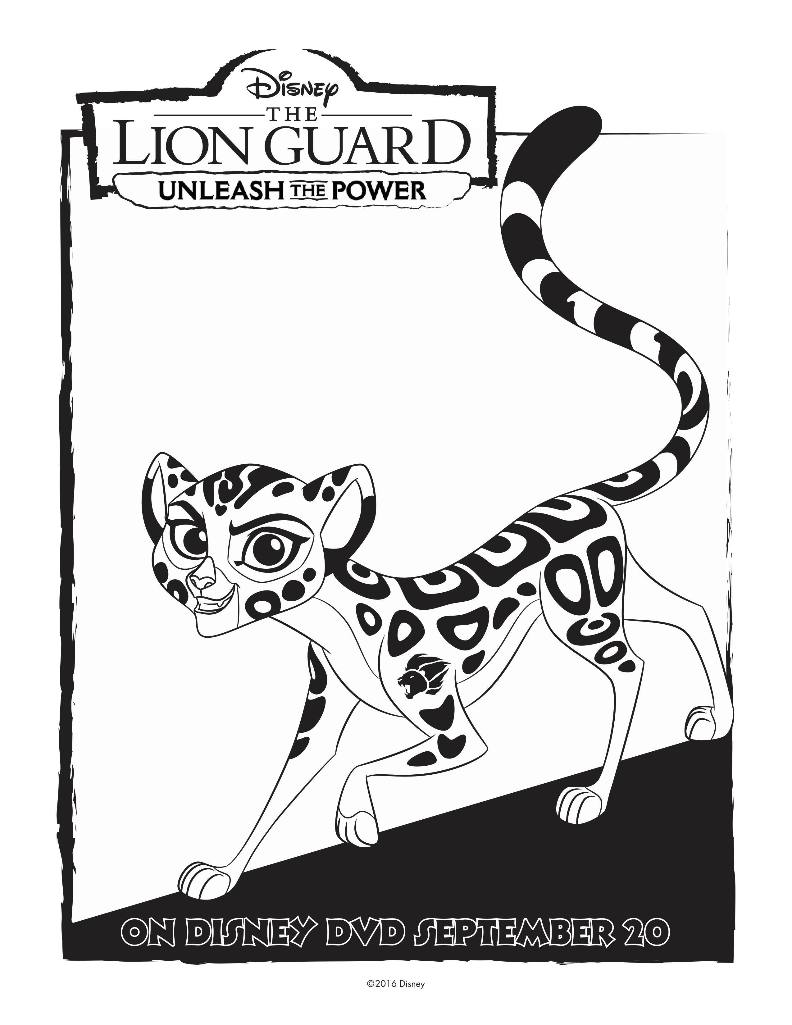 Disney Lion Guard Fuli Coloring Page