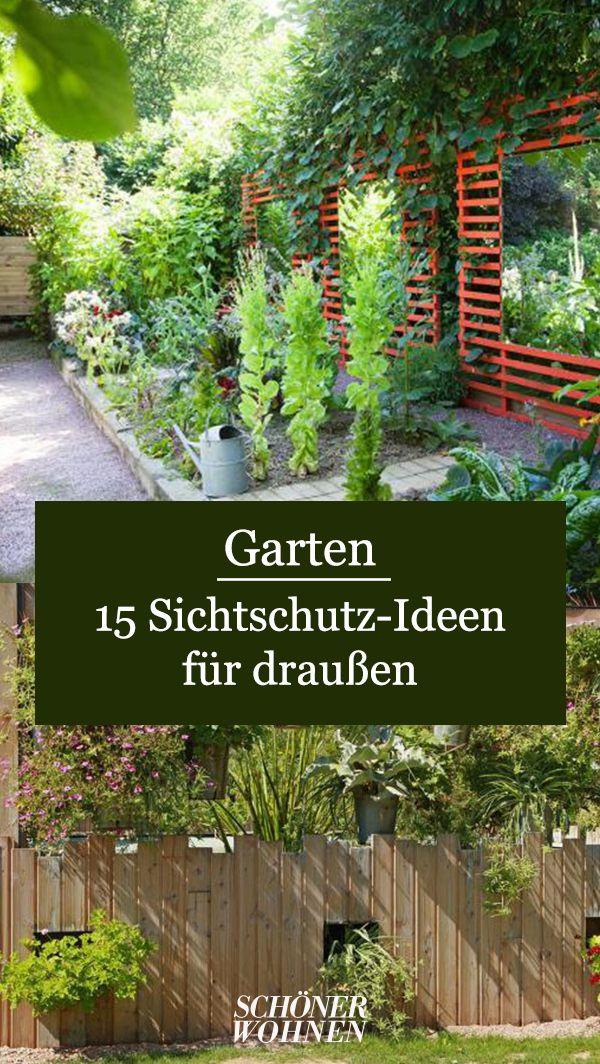 Wer einen Garten oder eine Terrasse besitzt, weiß einen wirksamen Sichtschutz zu schätzen, um ungestört zu lesen, zu entspannen oder sonnenzubaden. Die Möglichkeiten des Sichtschutzes sind vielfältig, hier gibt's die besten Ideen für mehr Privatsphäre.  #schönerwohnen #wohnen #garten #sichtschutz #ideen #inspiration #draußen #sommer #garten #gartenideen #tipps #tricks