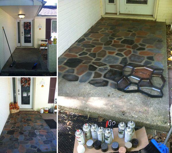 Diy Concrete Flooring Makeover Painted Concrete Floors Concrete Patio Makeover Floor Makeover