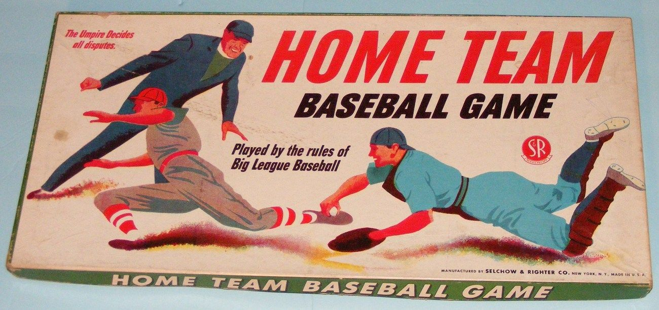 Vintage 1948 Home Team Baseball Game Board Game Only On