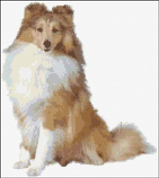 free Sheltie cross stitch | Cross Stitch Dogs | Pinterest | Bordado ...