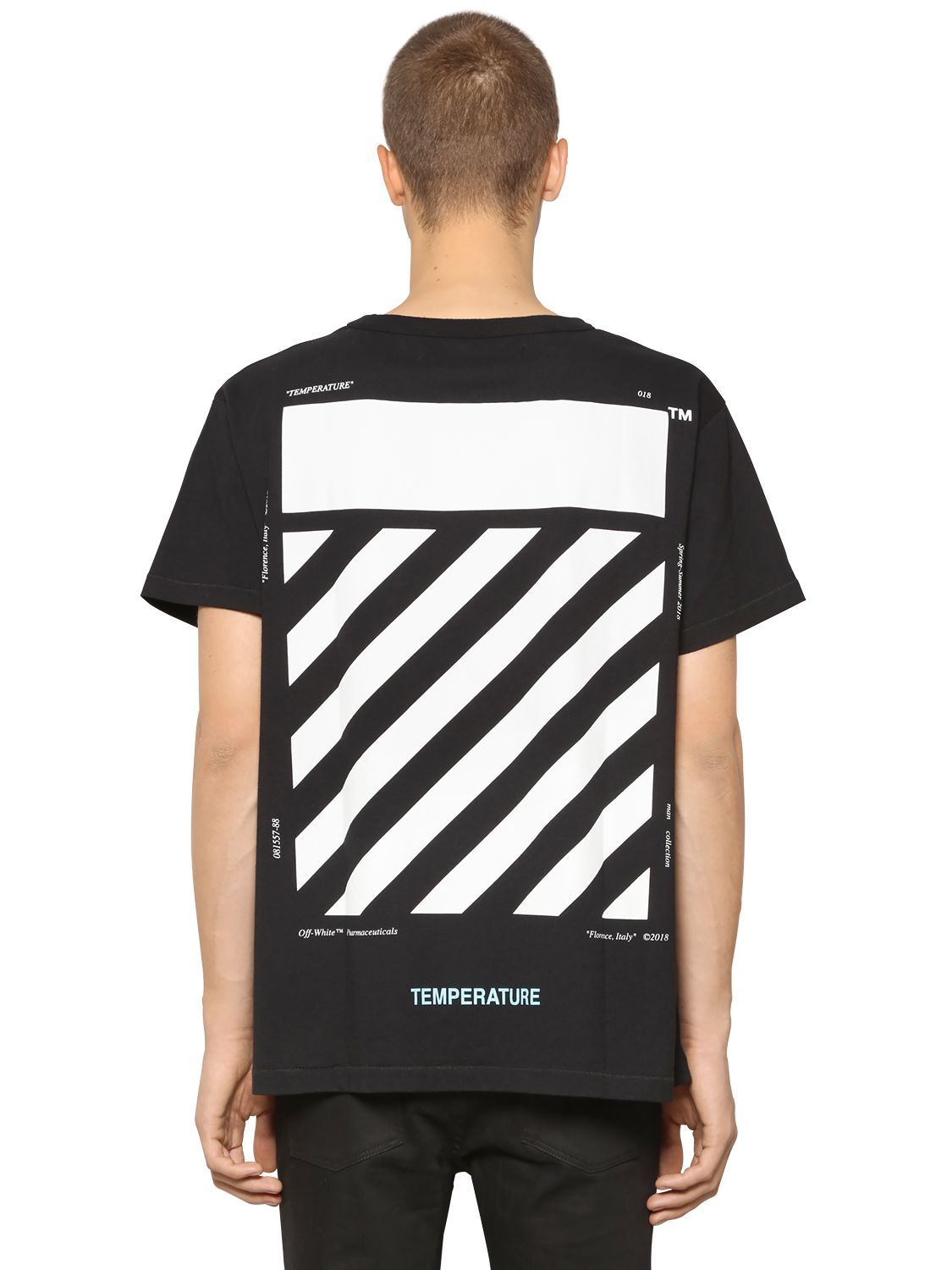 OFF-WHITE OVERSIZE DIAG TEMPERATURE JERSEY T-SHIRT.  off-white  cloth   ac940728a1f
