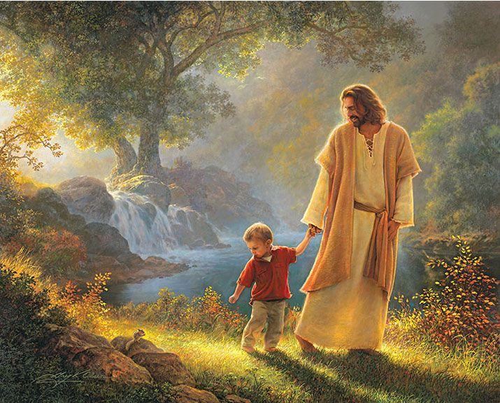 picture jesus greg olson take my hand. The last painting