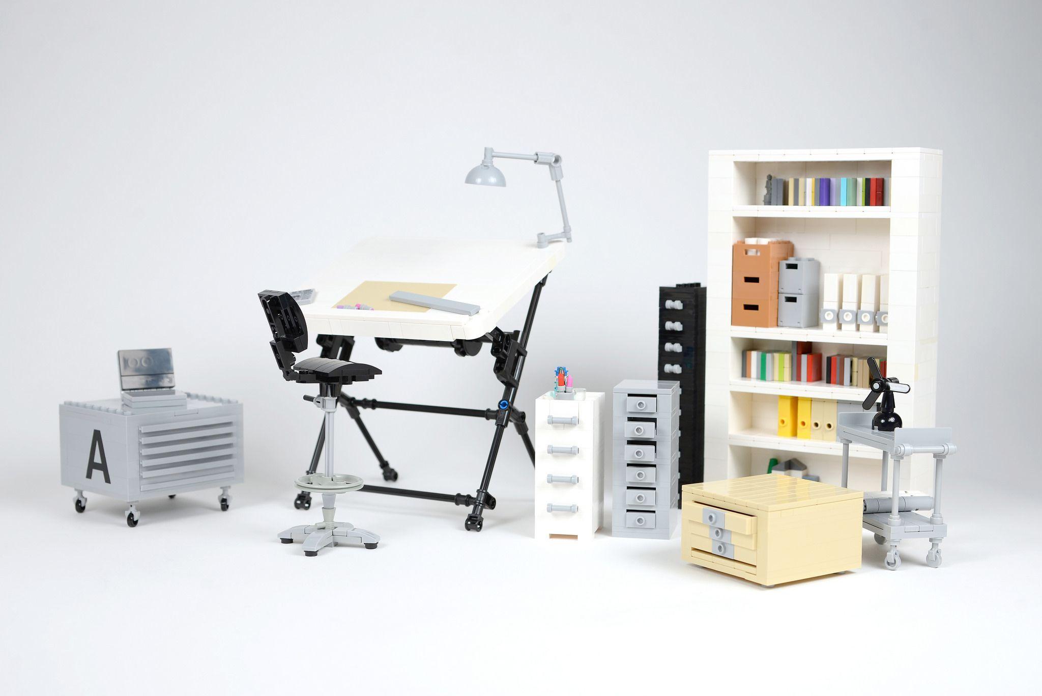 architect office supplies. Ideas.lego.com/projects/168671 Lego Architect Office Drawer Table  Furnitures Coffee Supplies