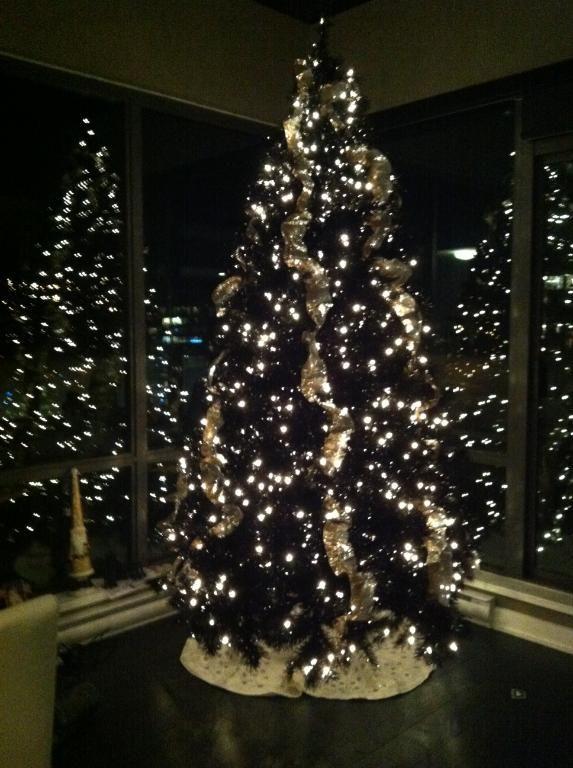 Stunning Light Display On The Tuxedo Black Christmas Tree