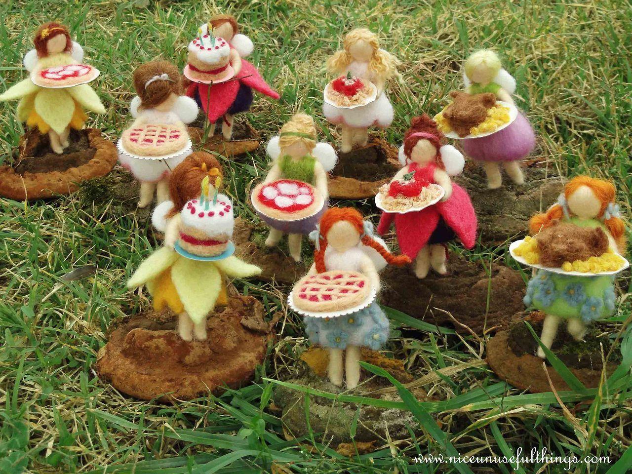 Needle felt fairy cooks. Le fatine cuoche, feltro ad ago.