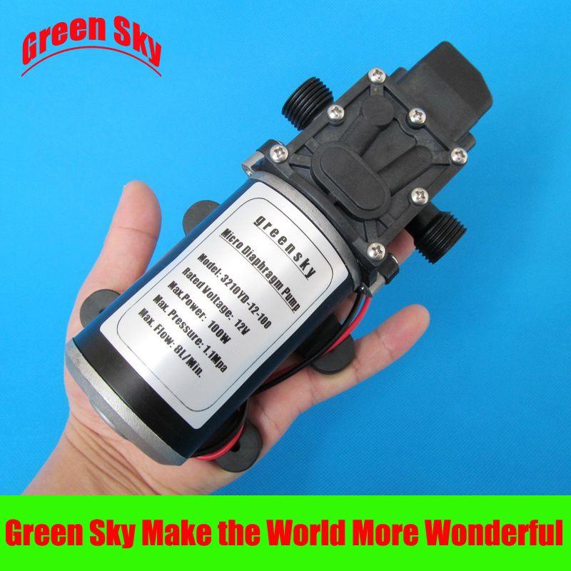 100W Electric High Pressure Self Priming Diaphragm Water 160psi Pump 12V 8L//min