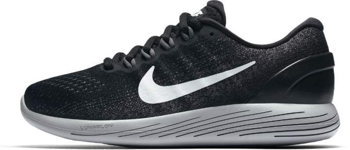 1205173c891 Nike LunarGlide 9 Women s Running Shoe Available Colors  Black Dark Grey Wolf  Grey White
