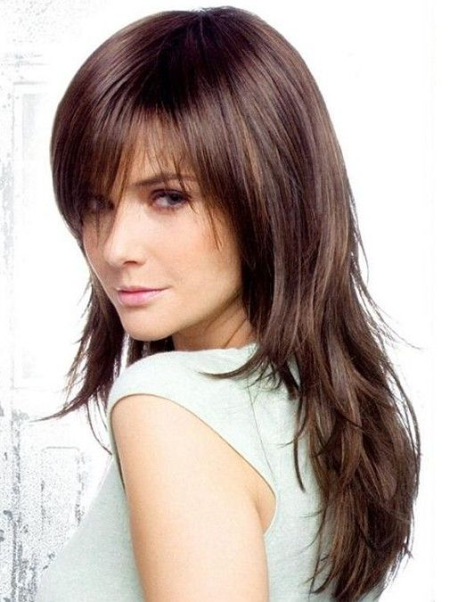 Layered Hair With Bangs For Thin Hair 2