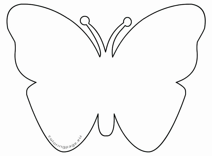 Simple Butterfly Coloring Page New Simple Butterfly Coloring Pages Printable Butterfly Butterfly Coloring Page Butterfly Printable Valentines Day Coloring Page