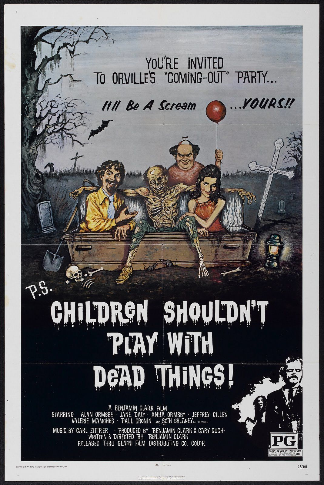 Children Shouldn't Play with Dead Things. 1973.