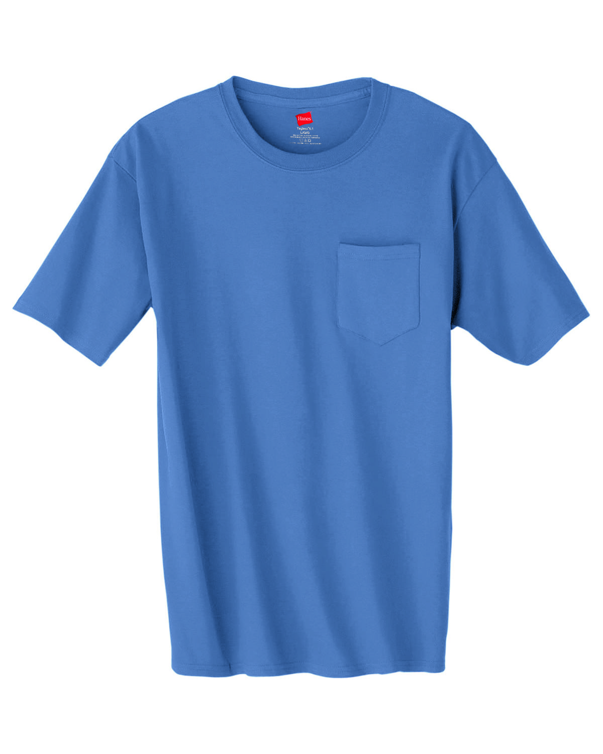 3911f3e1 Hanes Mens Tagless ComfortSoft Cotton Crewneck Short Sleeve Pocket T-Shirt  H5590