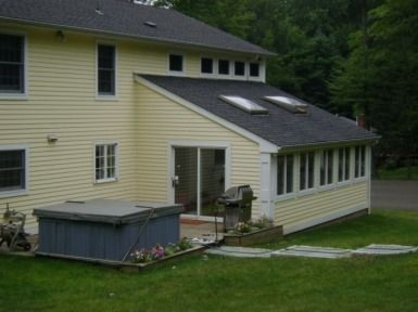 Pin By Sue Jones On Room We Need More Room House Roof Patio Roof Window Installation