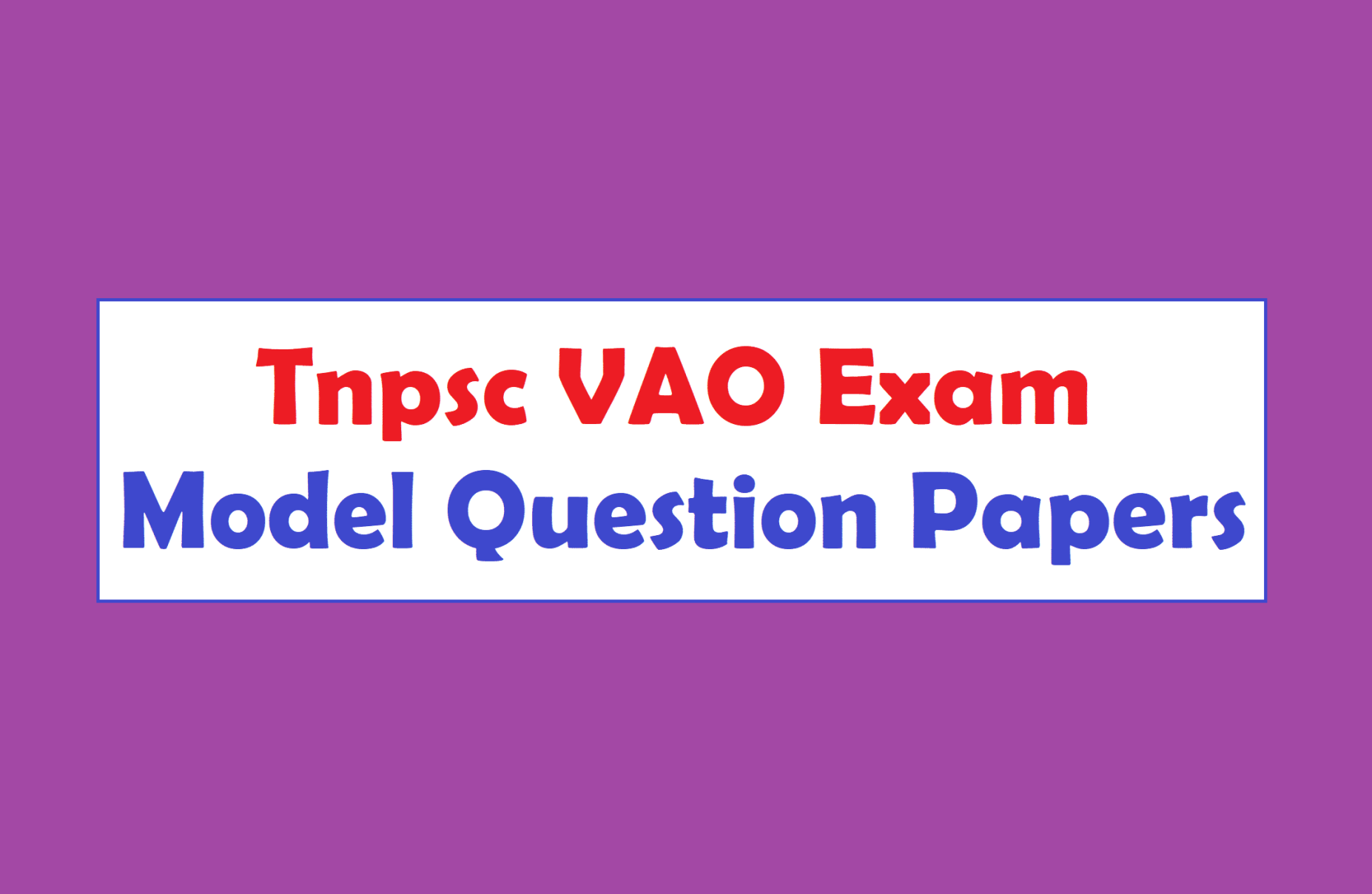 Vao Question Paper Pdf