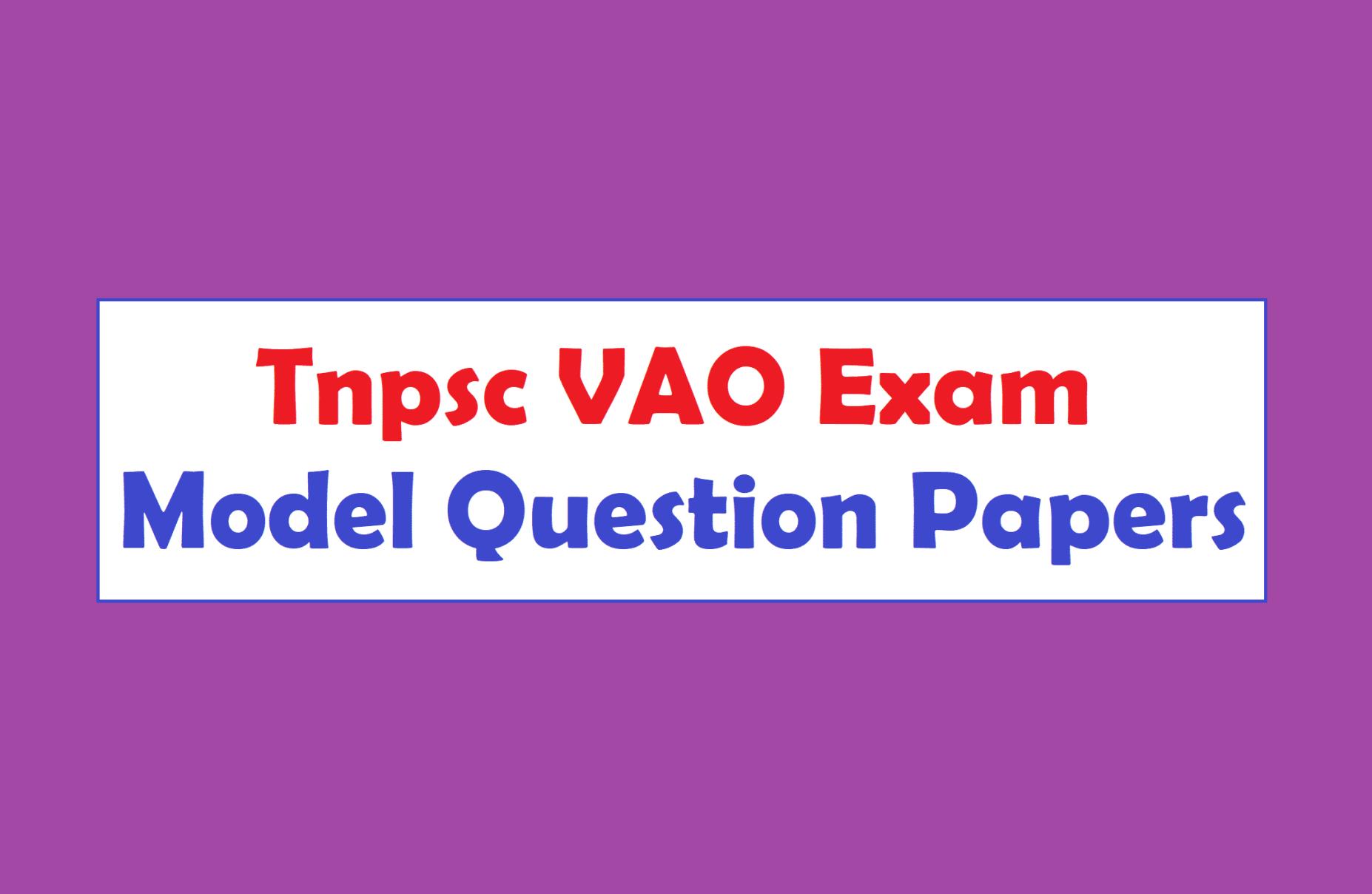 Vao Question Paper Pdf