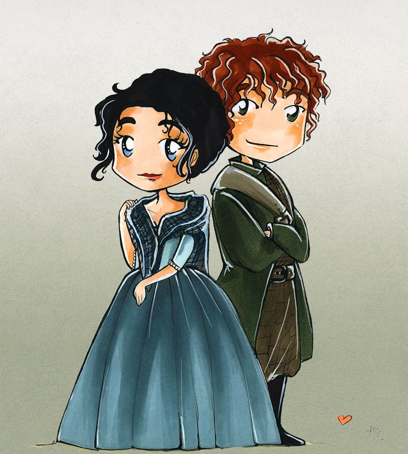 """tooliepanna: """" Claire and Jamie from Outlander. My beloved OTP - Claime"""