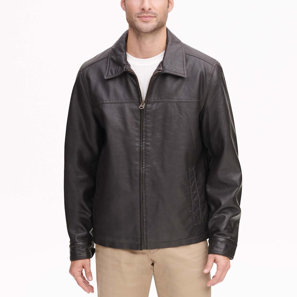 Men's Dockers James FauxLeather OpenBottom Jacket Faux