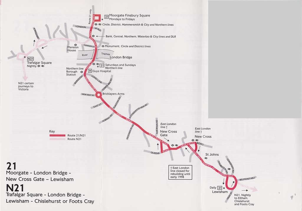 Image Result For 21 Bus Route 1950